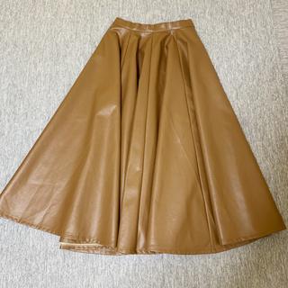 merry jenny - レザー サーキュラースカート