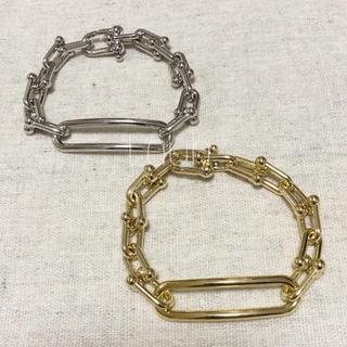 L'Appartement DEUXIEME CLASSE - j336.Tiffany wide link bracelet(gold)