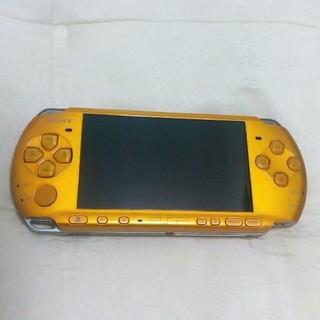 プレイステーションポータブル(PlayStation Portable)のpsp本体 3000 イエロー(携帯用ゲーム機本体)