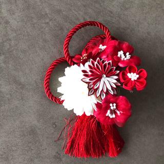 和装 髪飾り 赤 色打掛 振袖 (ヘッドドレス/ドレス)