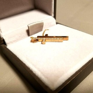 グッチ(Gucci)のGUCCI 18金ピンクゴールド セパレートクロスネックレス(ネックレス)