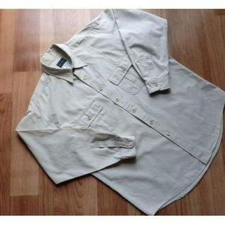 ビームス(BEAMS)のビームス BEAMS ■ ポケット付き・長袖シャツ■ベージュ系■綿■ メンズ L(シャツ)