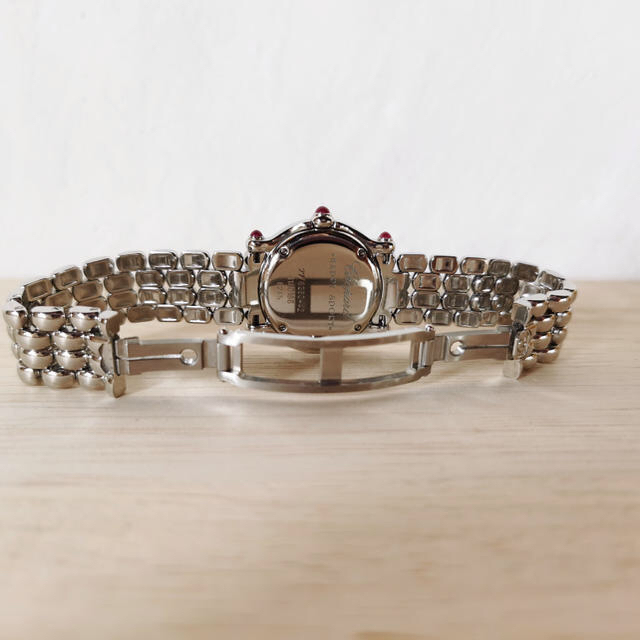 Chopard(ショパール)の美品 ショパール ハッピースポーツ 5P ダイヤモンド シルバー レディース レディースのファッション小物(腕時計)の商品写真