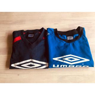 アンブロ(UMBRO)のUMBRO  ウォームアップシャツ 青 おまけつき サッカー フットサル(ウェア)