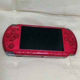 プレイステーションポータブル(PlayStation Portable)のpsp本体 3000 レッド(携帯用ゲーム機本体)