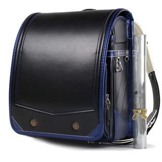 【即購入★OK】ランドセル 大容量 高級合皮 ブラック・ネイビー(ランドセル)