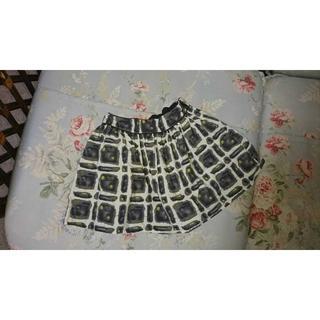 ボンポワン(Bonpoint)のUSED☆Bonpoint  ボンポワン  幾何学柄 スカート 4(スカート)