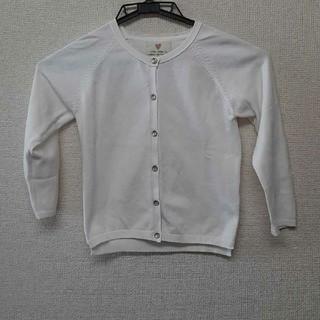 ザラ(ZARA)のZARA girl's ホワイトカーディガン size110(その他)