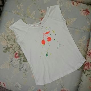 ボンポワン(Bonpoint)のUSED☆ボンポワン サイズ3 Tシャツ さくらんぼ(Tシャツ/カットソー)