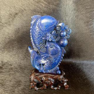 青金石 ラピスラズリ 彫刻工芸品 置き物(彫刻/オブジェ)
