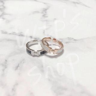 ディオール(Dior)のクリックH  Hロゴ ゴールド シルバー ピンクゴールド リング ネックレス(リング(指輪))