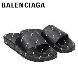 バレンシアガ(Balenciaga)の4 BALENCIAGA サンダル シャワーサンダル ブラック size 42(サンダル)