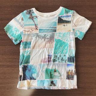 エイチアンドエム(H&M)のキッズ Tシャツ 総柄 サーフィン 夏 可愛い 140(Tシャツ/カットソー)