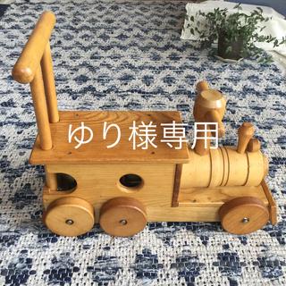「木製・汽車ポッポ 」木製手押し車 ポッポと音が出ます!乗用玩具 日本製(手押し車/カタカタ)
