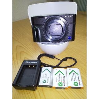 ソニー(SONY)の【SONY】RX100M4 電池3個付き(コンパクトデジタルカメラ)
