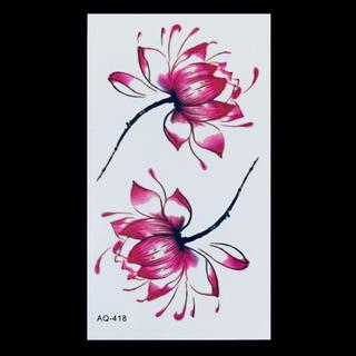 * まとめ割あり * 防水タトゥーシール [ Lotus w ] ×1(その他)