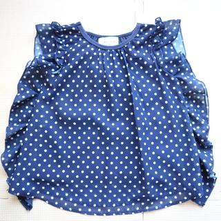 ウィルメリー(WILL MERY)の美品WillMery/ウイルメリー90cmシフォン重ね着風Tシャツ/フリル(Tシャツ/カットソー)