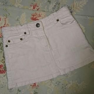 ボンポワン(Bonpoint)のUSED☆ボンポワン デニム 薄いピンク スカート 4(スカート)