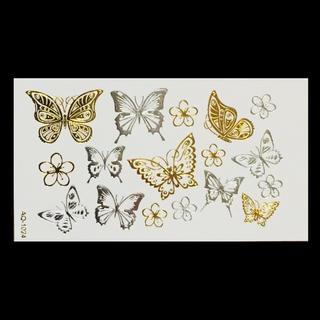 * まとめ割あり * 防水メタルタトゥーシール[metal butterfly](その他)