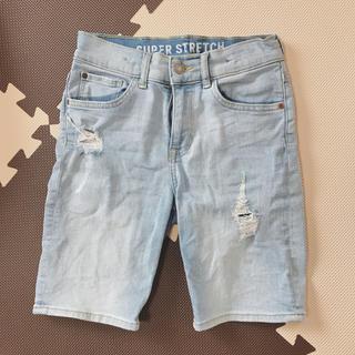 エイチアンドエム(H&M)のキッズ デニム ハーフパンツ ブルー 可愛い 140(パンツ/スパッツ)