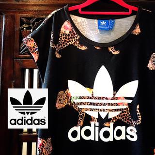 adidas - アディダス ファーム オリジナルス レオパード 花柄 Tシャツ タンク ML