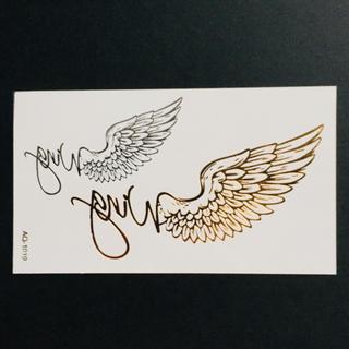 * まとめ割あり * 防水 メタルタトゥーシール [ wing ] ×1(その他)