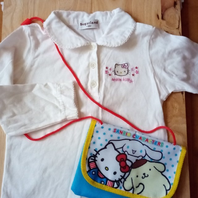 ハローキティ(ハローキティ)のキティちゃんセット🎀100 キッズ/ベビー/マタニティのキッズ服女の子用(90cm~)(Tシャツ/カットソー)の商品写真