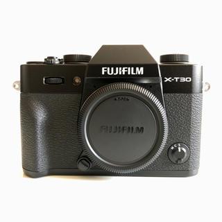 フジフイルム(富士フイルム)の新品同様 保証有 送料無料 FUJIFILM X-T30 ボディ ブラック(ミラーレス一眼)