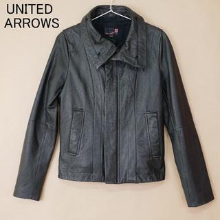 ユナイテッドアローズ(UNITED ARROWS)のUNITED ARROWS ユナイテッドアローズ S 牛革 黒 ジャケット(ライダースジャケット)