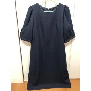 シマムラ(しまむら)のワンピース ゲストドレス  パフスリーブ(ひざ丈ワンピース)