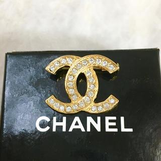 CHANEL - 正規品 シャネル ブローチ ゴールド ココマーク ラインストーン 金 ロゴ 石