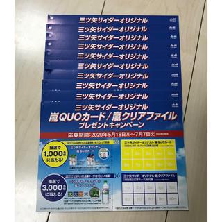 アラシ(嵐)の三ツ矢サイダー×嵐キャンペーン応募ハガキ10枚(その他)