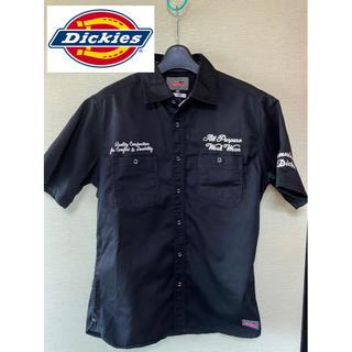 ディッキーズ(Dickies)の美品 ディッキーズ ワークシャツ 半袖 刺繍 シャツ(シャツ)