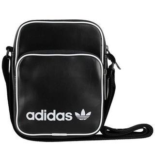 アディダス(adidas)の即日発送 新品アディダスオリジナルス黒レザー革ミニショルダーバッグ(ボディーバッグ)