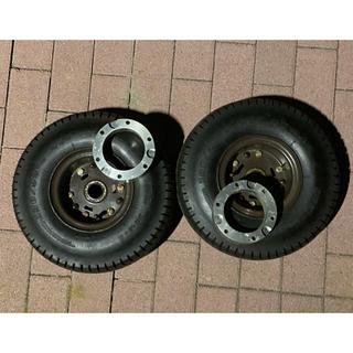 ジャイロ 2スト タイヤ ワイドスペーサー セット 130-90 6インチ