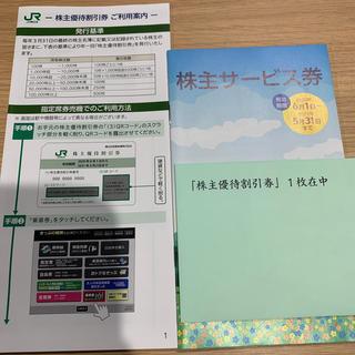 ジェイアール(JR)のJR東日本 株主優待割引券、株主サービス券(鉄道乗車券)
