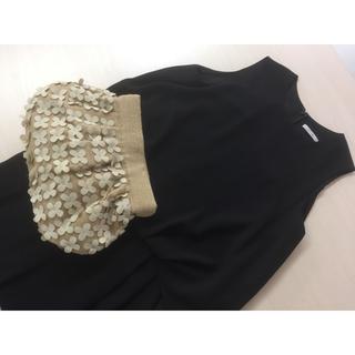 Maison de Reefur - MOYNA ホワイト夏リネン 美品フラワークラッチバッグ
