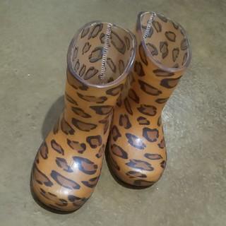 ヒョウ柄の長靴 14センチ(長靴/レインシューズ)
