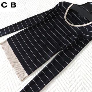アイシービー(ICB)の美品 アイシービー iCB 大人ボーダー ニット(ニット/セーター)