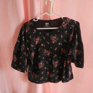 ユニクロ(UNIQLO)のUNIQLO Sサイズ 花柄Tシャツ(Tシャツ(半袖/袖なし))