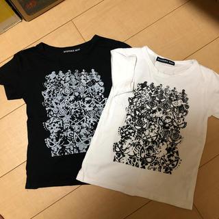 ヒステリックミニ(HYSTERIC MINI)のヒステリック ミニ 120  半袖 2枚セット 白黒(Tシャツ/カットソー)