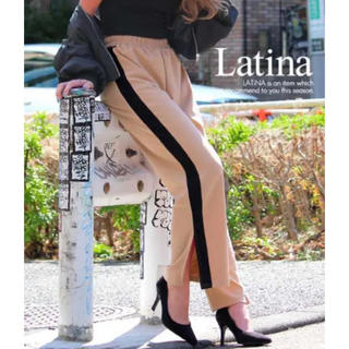 アナップラティーナ(ANAP Latina)のANAP Latina アナップ サイドスリット配色ラインジャージ バギーパンツ(カジュアルパンツ)