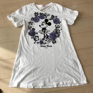 ユニクロ(UNIQLO)のユニクロ 半袖 チュニック ミニーちゃん(Tシャツ(半袖/袖なし))