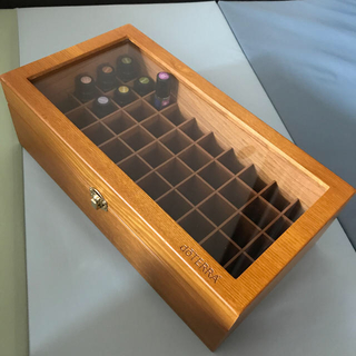 ドテラdottera  アロマエッセンシャルオイル保管用木箱50本収納(アロマグッズ)