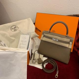 エルメス(Hermes)のエルメス ケリー25 トゴ シルバー金具 Y刻印 エトープ ケリー 25 新品(ハンドバッグ)