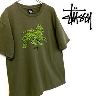 ステューシー(STUSSY)の美品 STUSSY ロゴTシャツ(Tシャツ/カットソー(半袖/袖なし))