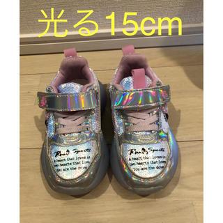ディズニー(Disney)の光る靴 15cm ミニちゃん(スニーカー)
