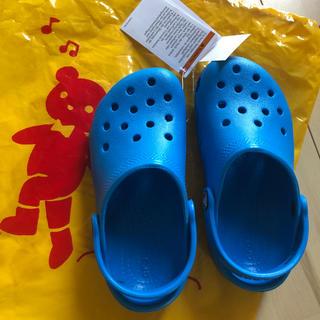 クロックス(crocs)の新品未使用!お買い得クロックス 青 18.5cm(サンダル)