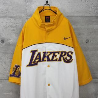 ナイキ(NIKE)のUSA 古着 NIKE ナイキ NBA レイカーズ ビッグ ゲームシャツ(シャツ)