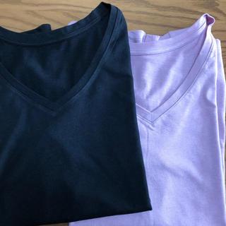 ユニクロ(UNIQLO)のユニクロ Tシャツ Vネック 2枚セット(Tシャツ(半袖/袖なし))